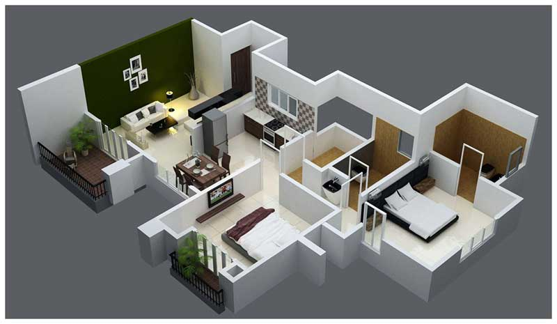 Anantpuram a township project at bapat camp market yard for 1 bhk flat interior decoration image